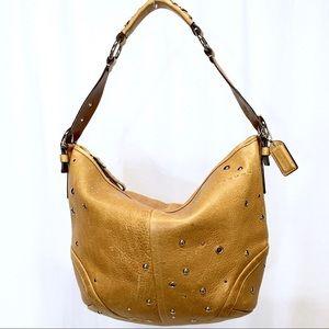 COACH SOHO Tan Studed Leather Hobo Shoulder Bag
